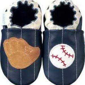 ROBEEZ Baseball Soft Leather Slipper Shoes NWT